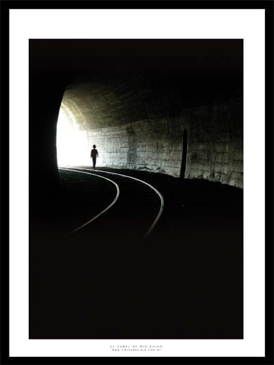 En el túnel de La Trochita